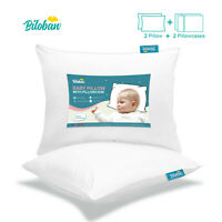 "Toddler Pillows with 100% Cotton Pillowcase 2 Pack 14""x19"" Kids Pillow Ages 2-5"