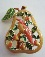 NEW  PARTRIDGE IN A PEAR TREE  CHRISTMAS BROOCH