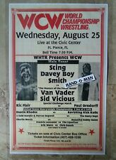 Vintage WCW Poster Sting & Davey Boy Smith vs Van Vader & Sid Vicious