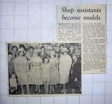 1960 Shop Assistants At Morley's Of Brixton Become Models