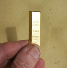 1/6 Scale Miniature Faux Gold bullion bar for dioramas and doll houses