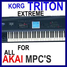 KORG TRITON EXTREME SAMPLES AKAI MPC 2500 5000 4000 2000 TOUCH X REN STUDIO 45GB