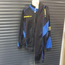 Umbro Pro Training Retro Vintage Full Tracksuit Jacket Pants Black Blue Men's XL