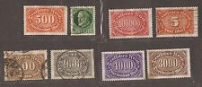 1920 GERMAN STAMPS UNUSED & USED SEE SCAN FOR BACK AND FRONT