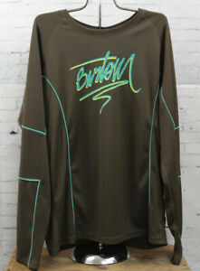 New Burton Mens Pipe Long Sleeve Jersey Extra Large Roasted Brown