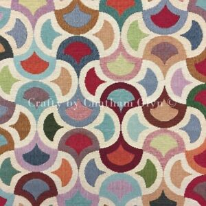 New World Tapestry Fabric Luxury Weight Cotton Rich 1.4m wide Big Carnival