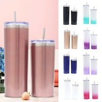 20oz Tumbler Cup With Straw Lid Stainless Steel Vacuum Insulated Bottle BPA Free