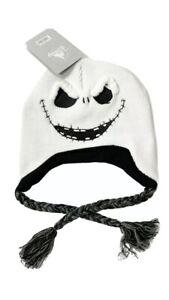 NWT Disney Nightmare Before Christmas Jack Skellington Laplander Hat Knit Winter