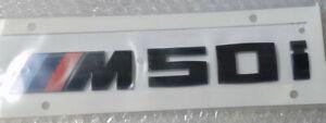 BMW OEM Gloss Black Trunk M50i Badge G06 X6 2020+ Brand New
