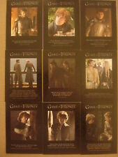 GAME OF THRONES - SEASON FOUR (4): QUOTABLE GAME OF THRONES - SET OF 9 CARDS