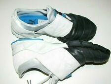 Rare Puma men shoes athletic golf hike fashion zip pleated-toe black/white 9-9.5