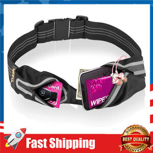 Slim Running Belt, Water Resistant Runners Belt Fanny Pack Waist Pack for Hiking