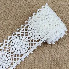 2 Yards Off White Cotton Embroidery Lace Trim Ribbon Sewing Crafts Trimmings