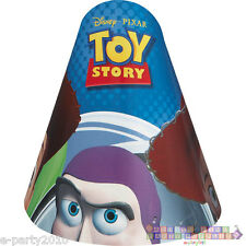 TOY STORY CONE HATS (8) ~ Disney Pixar Birthday Party Supplies Paper Favors Buzz