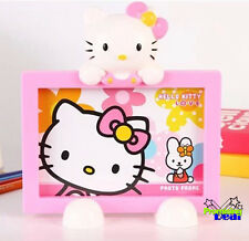 "New Cute Pink Hello Kitty 6"" Kids Family Photo Picture Frame Holder"
