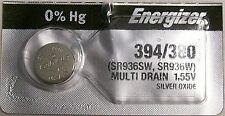 Energizer Watch Battery 394/380 replaces SR936SW, SR936W, V394, V380,  AWI S26