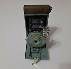 Antique 1929 Eastman Kodak Petite 127 Folding Green Camera With Case