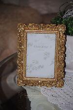 Bilderrahmen 10 x 15 cm  Fotorahmen Rechteckig Rahmen Deko Antik Barock  Gold 1