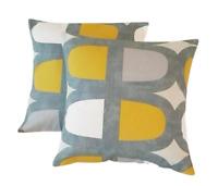 24x24 Cubes Pillow Cover 24 Saffron
