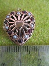 9ct Gold Heart Locket Charm Bracelet Necklace Pendant 375