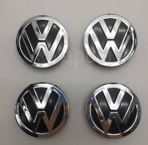 4 pcs for Volkswagen  58 mm  Wheel Hub Cap Center Cover black