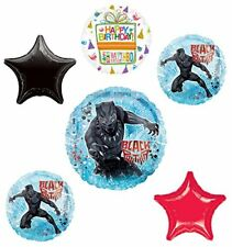 Black Panther Party Supplies Birthday Balloon Bouquet Decorations