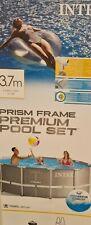 Pool Intex Metallrahmen  - 3,66m x 1,22m Grey / Grau Prism Frame Premium Poolset