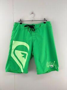 Quicksilver Men's Casual Beach Swimming Board Shorts Size 30 Green