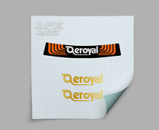 Aeroyal Rear and Side Gold Seat Decals Stickers old school BMX Decals