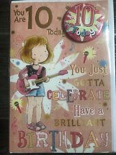 Girl 10 years old birthday card