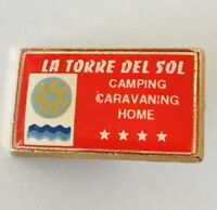 La Torre Del Sol Camping Caravaning Home Pin Badge Rare Vintage (C15)
