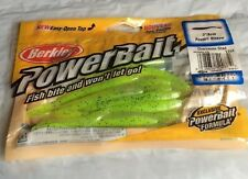 "Berkley Powerbait Power Minnow Soft Lure Plastic 3"" Chartreuse Shad"