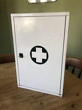 Vintage Bathroom Cabinet Medicine Metal~ Retro - with original contents WITH KEY