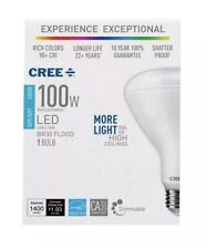 Cree - 100W Equivalent Daylight (5000K) BR30 Dimmable LED Light Bulb