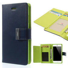 Korean Mercury Rich Diary Dual Wallet Case Cover for iPhone 6 Plus - Navy