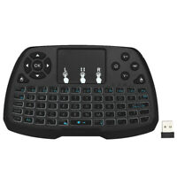 Mini 4Color Backlit 2.4GHz Wireless Keyboard Touchpad for TV Box Android PC Q2J3