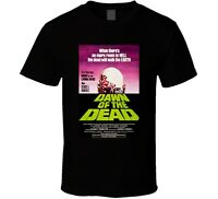 Cool Dawn of the Dead Vintage 70's Movie Poster Men's T Shirt Black