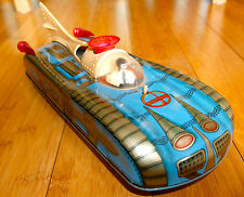 VINTAGE INTERKOZMOSZ TINPLATE SPACE TOY CAR RARE 1960's FUTURISTIC HUNGARY