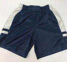 Nike Basketball Shorts Blue White Logo Light Material Polyester Boys 4 Toddler