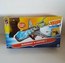 Justice League Action Superman Black Suit Exclusive Figure And Justice 1 Plane
