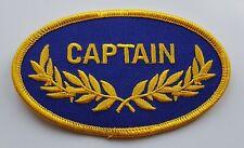 CAPTAIN PATCH Ship Boat Maritime Skipper Badge/Emblem/Insignia Naval Nautical