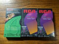 RCA Lot of 3 Blank VHS Video Cassette Tapes T-120 New Sealed 6 Hours