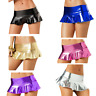 Women's Leather Micro Mini Skirt Wet Look Bodycon Lingerie Skirt Clubwear Dress