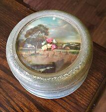 Vintage Thorens Powder Box Music Box Shadowbox Design