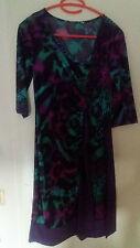 lila, grün, schwarzes pinkenes Keid,  Gr. 36/38, S + Schleife, Neuwertig