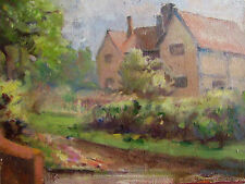 GILL SERGEANT - BRILL HOUSE  - ORIGINAL PAINTING - C. 1980 - FREE SHIP IN THE US