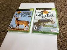 2 XBOX GAMES Bass Pro Shops: Trophy Hunter 2007 & Trophy Bass 2007 LOT new