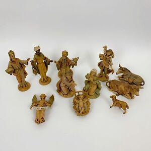 "Vintage Fontanini Nativity 12 Set Pieces 5"" Holy Family Animals Figures Depose"