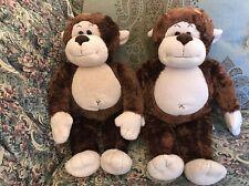 Lot of 2 plush Brown Monkeys Monkey Danielle Best Friend Build-a-Bear Twins #C6