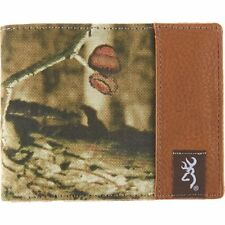 Browning Buckmark Men Leather Bi-Fold Wallet BGT2015 Mossy Oak Camo Hunting Gift